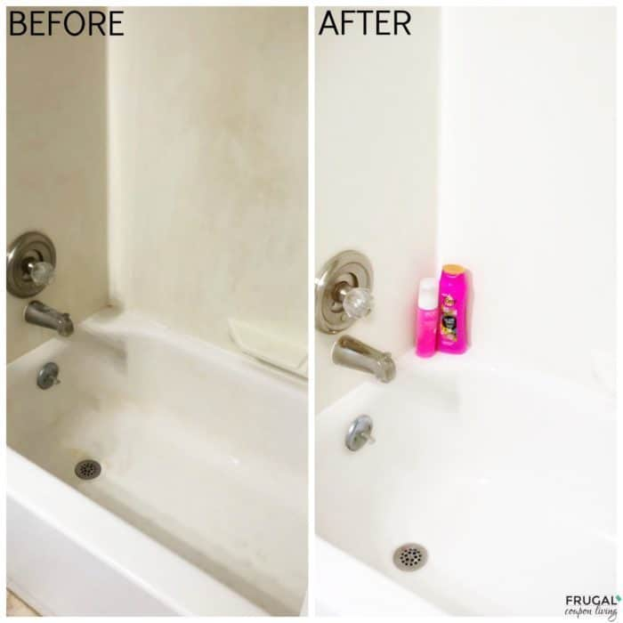 Homemade Soap Scum Remover Before and After