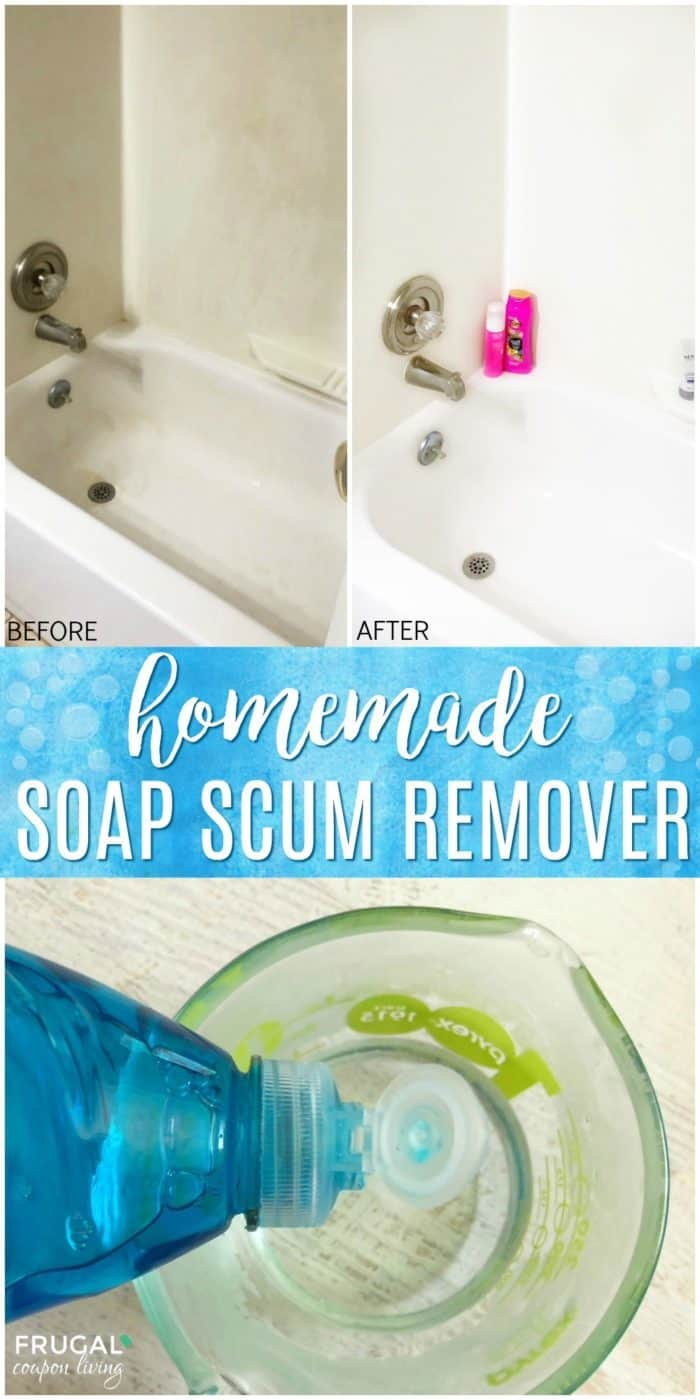 Homemade Soap Scum Remover Secret Ingredients