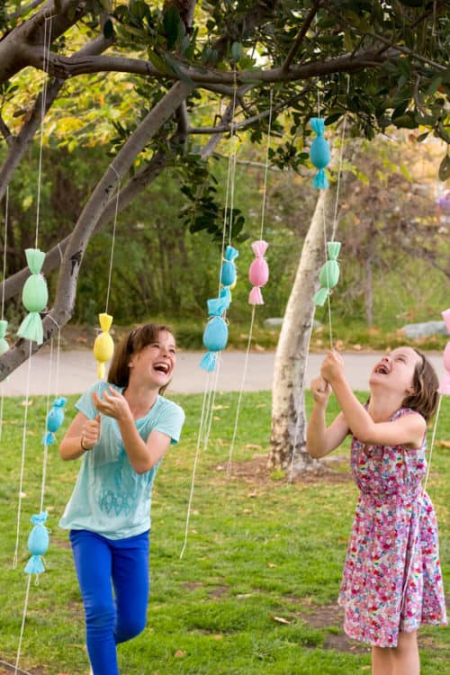 Mini Easter Egg Pinatas and Easter Games for Kids