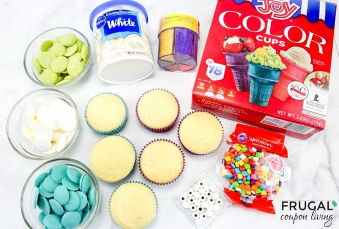 Peacock Cupcakes Ingredients