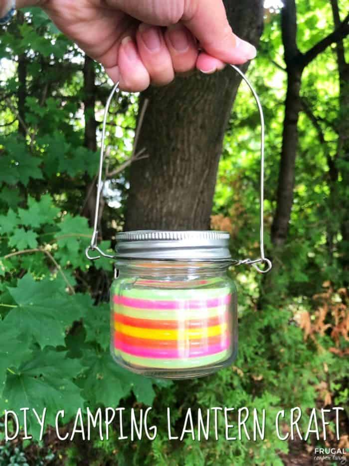 Camping Rainbow Lantern Craft for the Kids