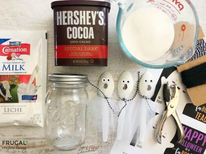 Teacher Gift for Halloween Hot Chocolate Ingredients