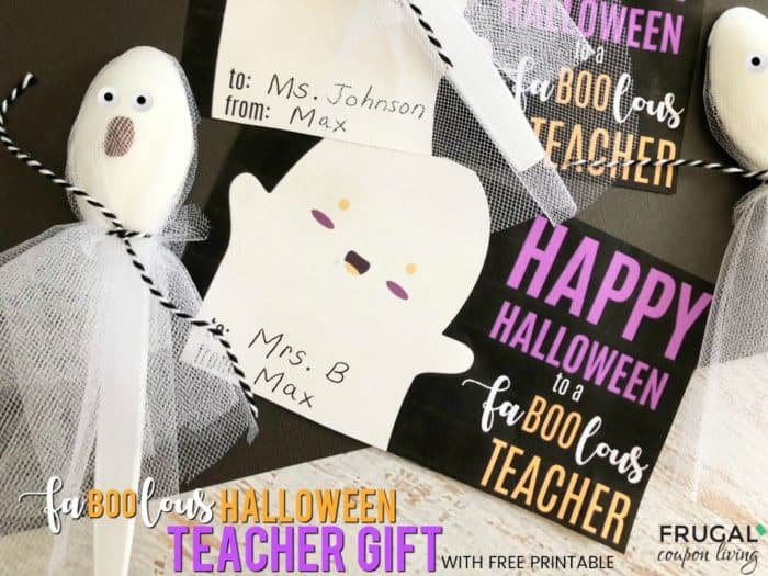 Fa-Boo-lous Teacher Gift for Halloween with Free Printable