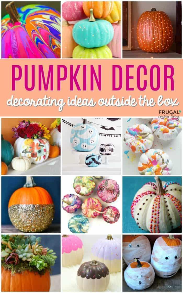 Creative Pumpkin Decorations - Ideas Outside Your Traditional Halloween Decor