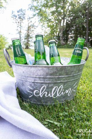 Circut Beverage Tub with free SVG File