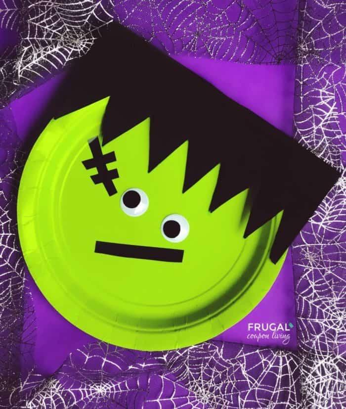 Green Monster Halloween Preschool Craft