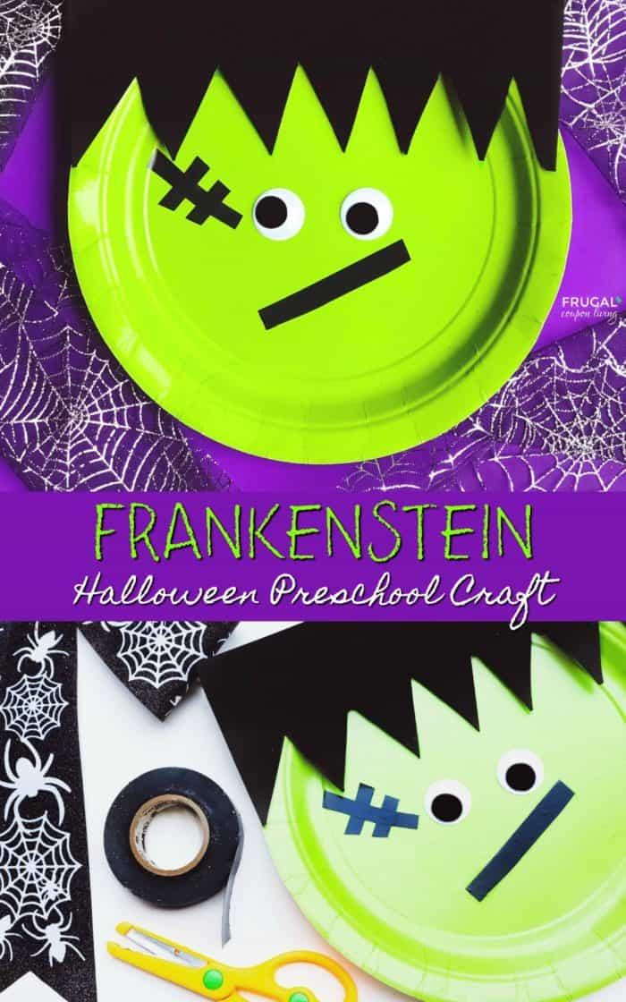 Frankenstein Halloween Preschool Craft