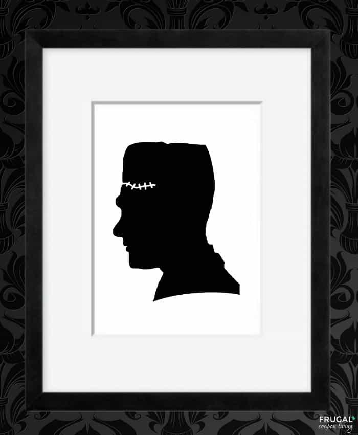 Frankenstein Shadow - Halloween Silhouette Portrait Printables