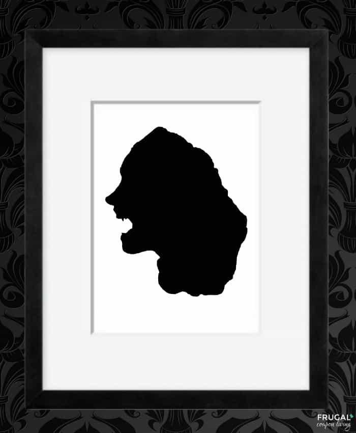 Vampire Shadow - Halloween Silhouette Portrait Printables