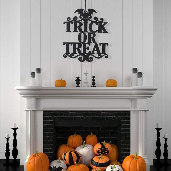 Halloween Trick or Treat Hanging Sign