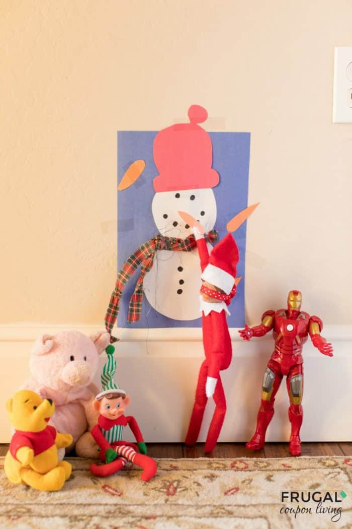 Pin the Nose on the Snowman Elf on the Shelf