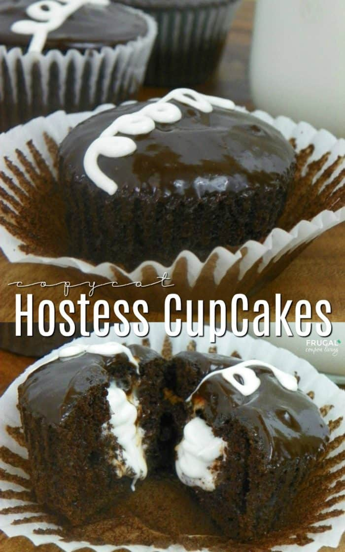 Easy Copycat Hostess CupCakes with Secret Marshmallow Filling