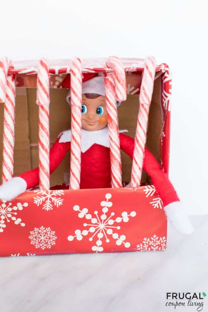 Elf on the Shelf Candy Cane Jail