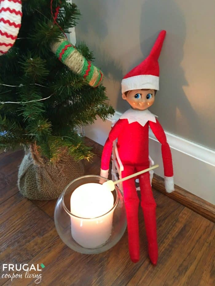 Easy Elf on the Shelf Ideas Marshmallow Roast