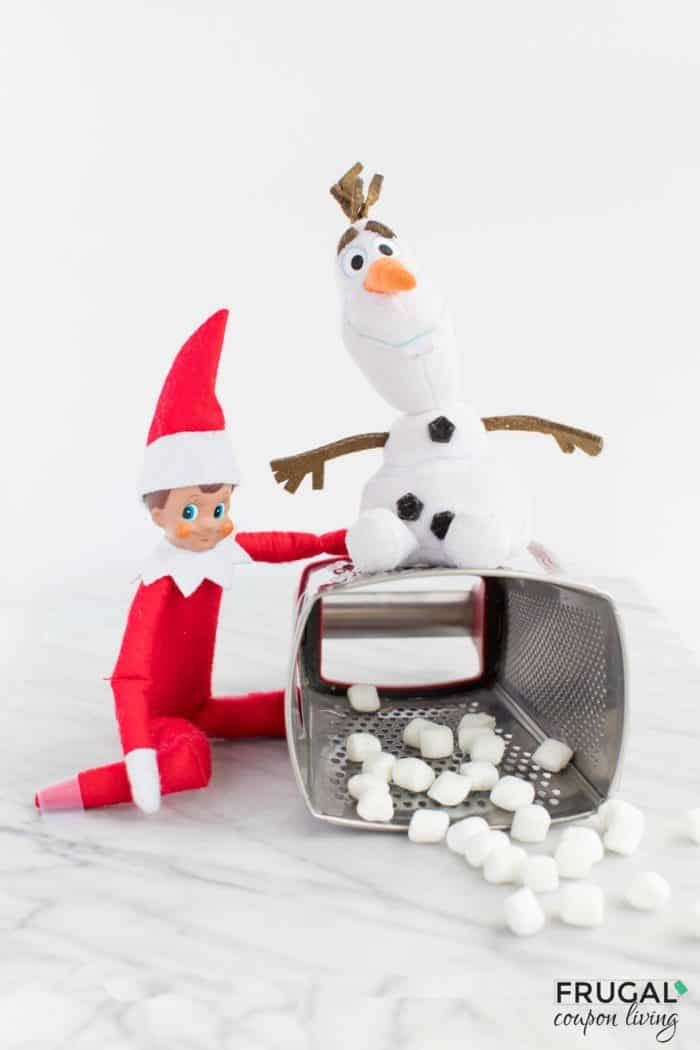 mischievous elf - snowman cheese grater