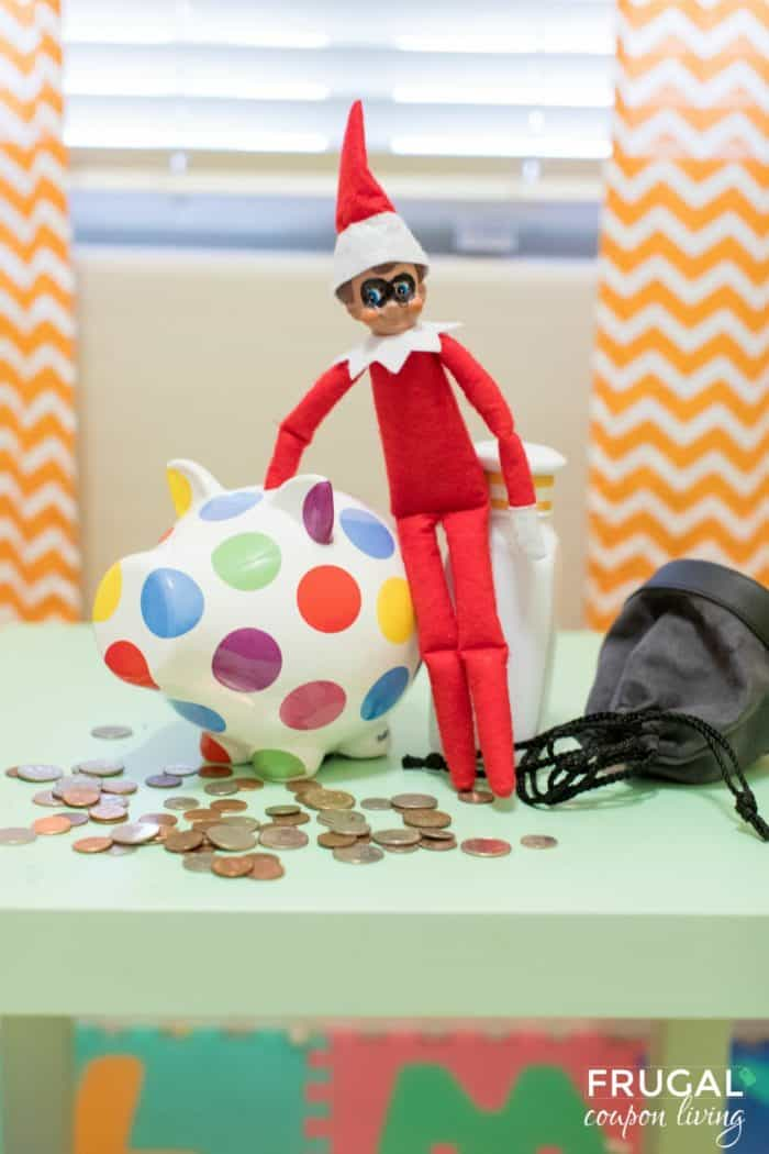 Elf Heist Piggy Bank Robbery