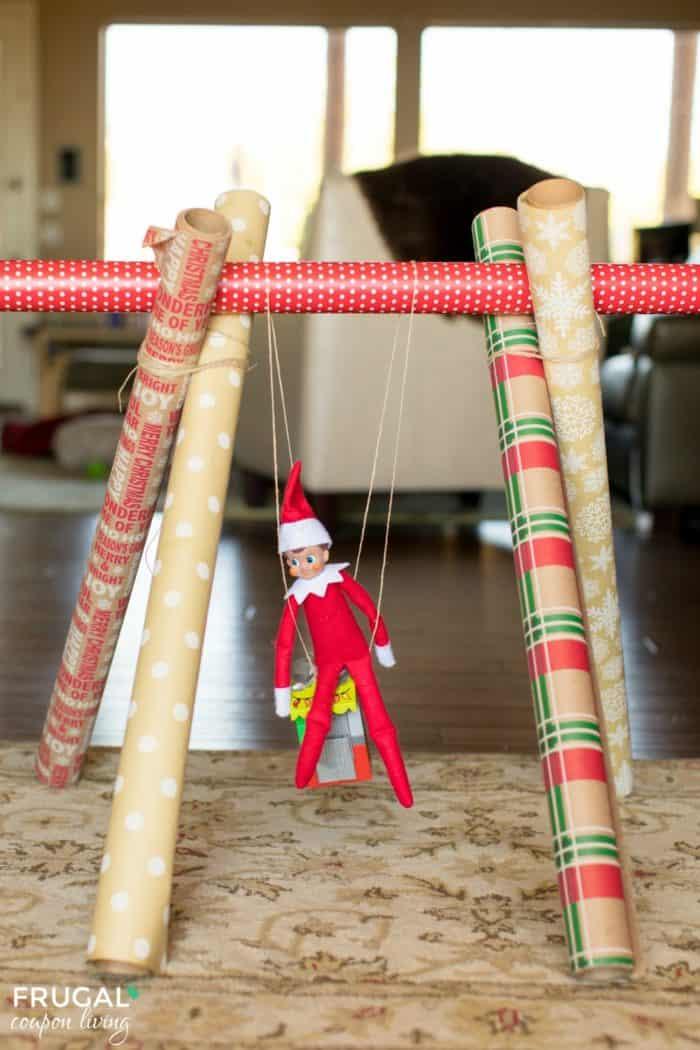Elf on the Shelf Gift Wrap Swing
