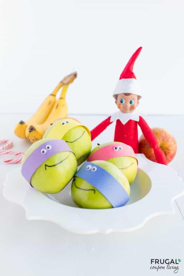 Elf on the Shelf Ninja Turtle Apple