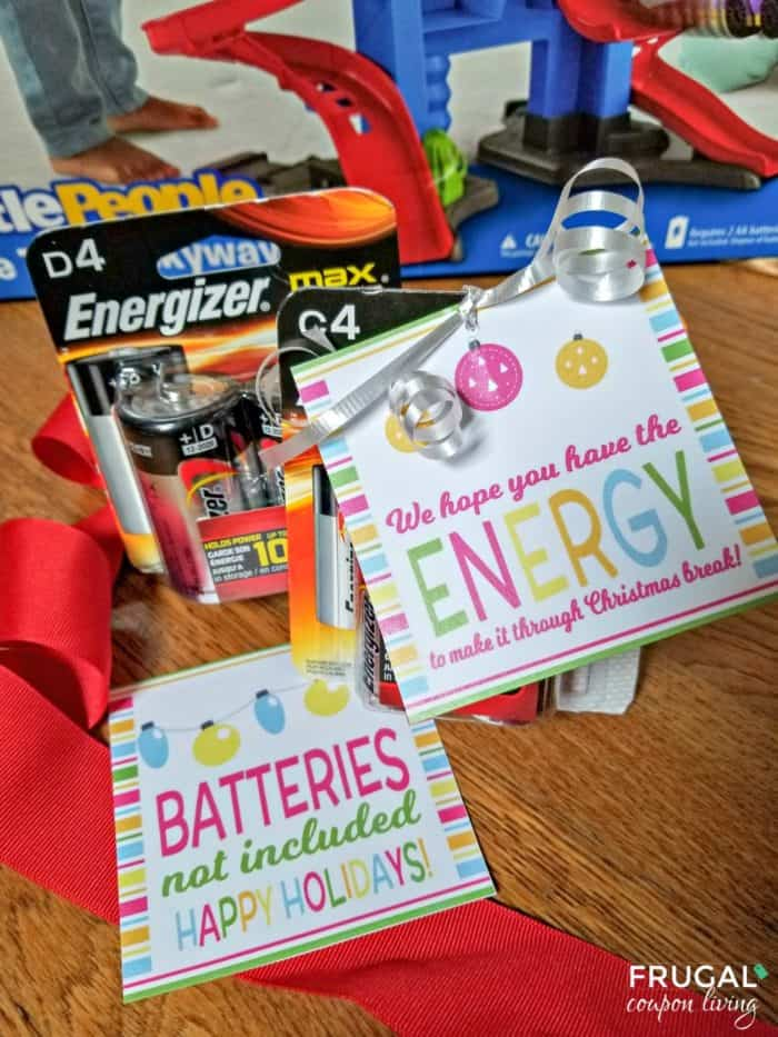 Battery Energy Holiday Gift Tag
