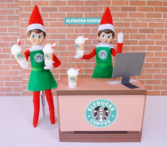 Elf on the Shelf Starbucks Coffee Barista