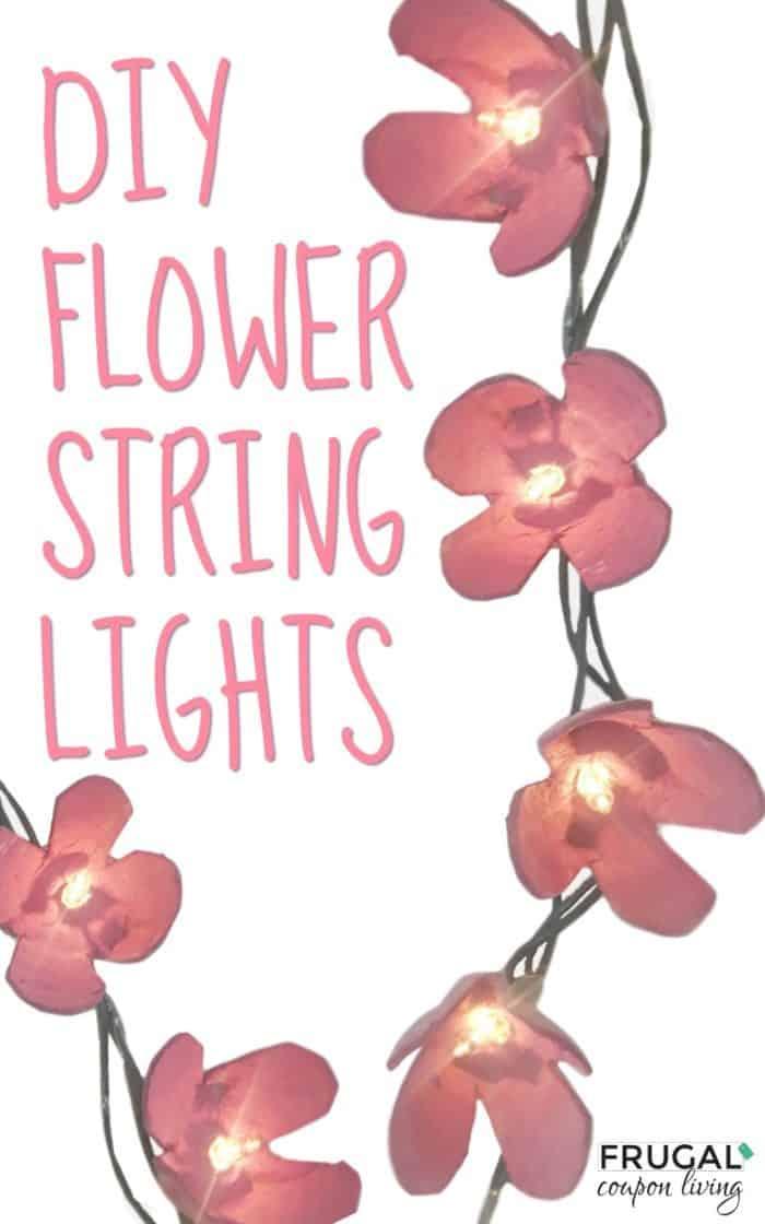 DIY Flower String Lights