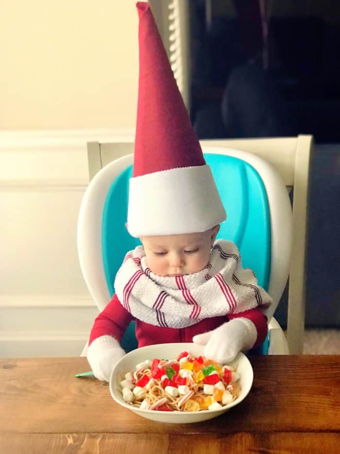 Spaghetti Elf on the Shelf Idea