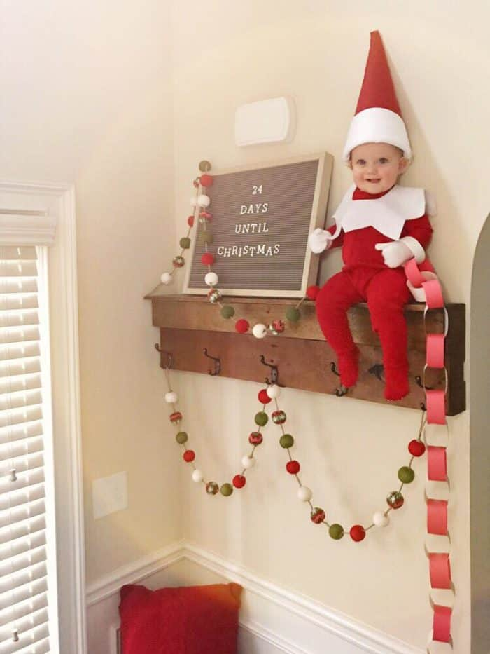 Real Elf on a Shelf Baby Costume