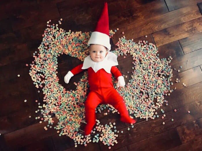 Cereal Angel Elf on the Shelf Idea