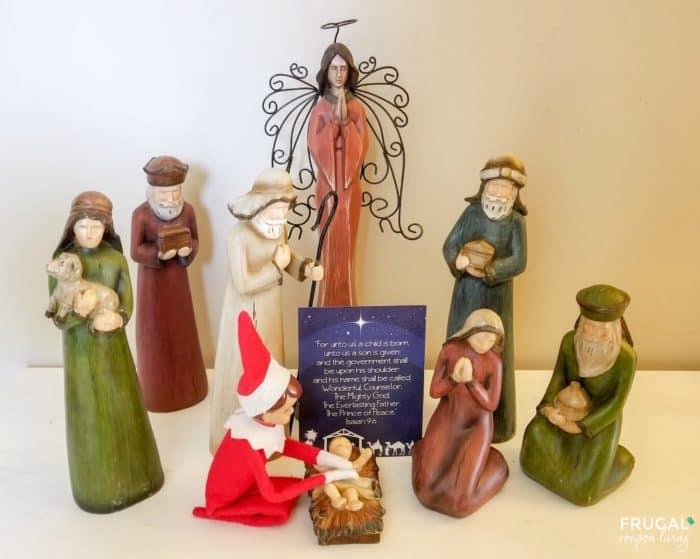 Praying Elf on the Shelf Idea plus FREE Elf Printable