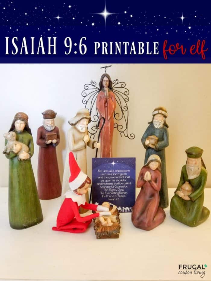 Elf on the Shelf Printable Bible Verse Isaiah 9:6