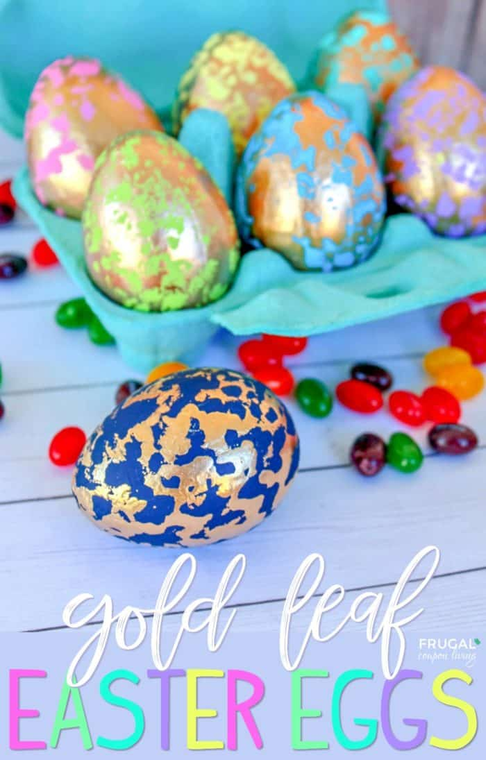 How to Make Gold Leaf Easter Eggs