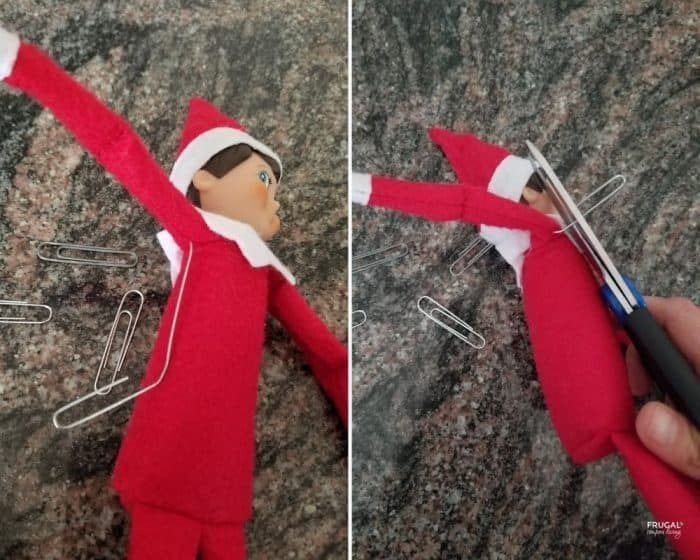 paper clip elf on the shelf bendable