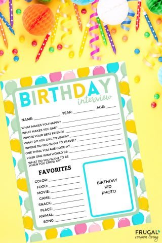 Birthday Quiz Printable