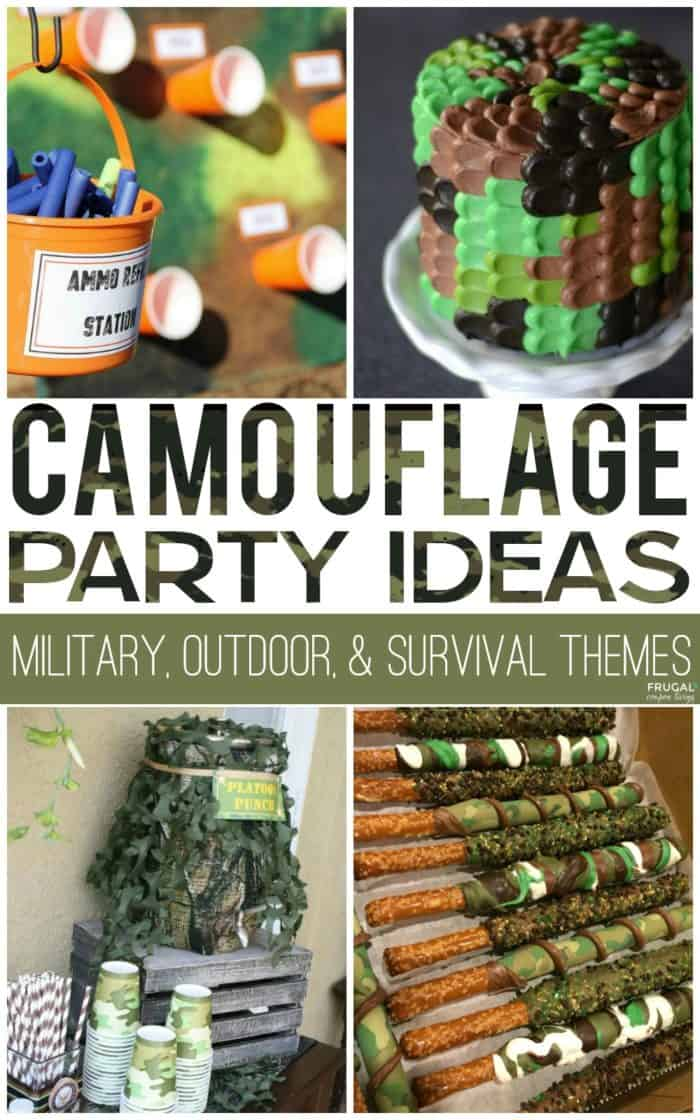 Camouflage Camo Birthday Party Ideas