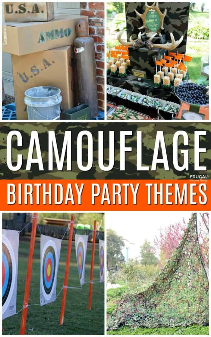Camouflage Birthday Party Ideas