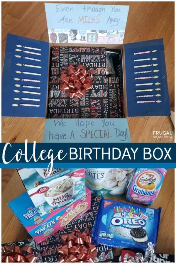 Birthday care package for college students