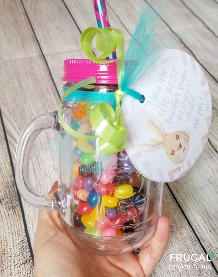 Mason Jar Jelly Beans Gift with Printable
