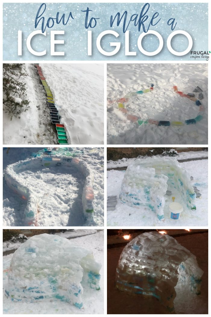 Photo directions of How to Make An Igloo using ice blocks