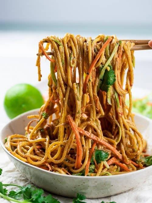 Thai Peanut Noodles with Homemade Peanut Sauce