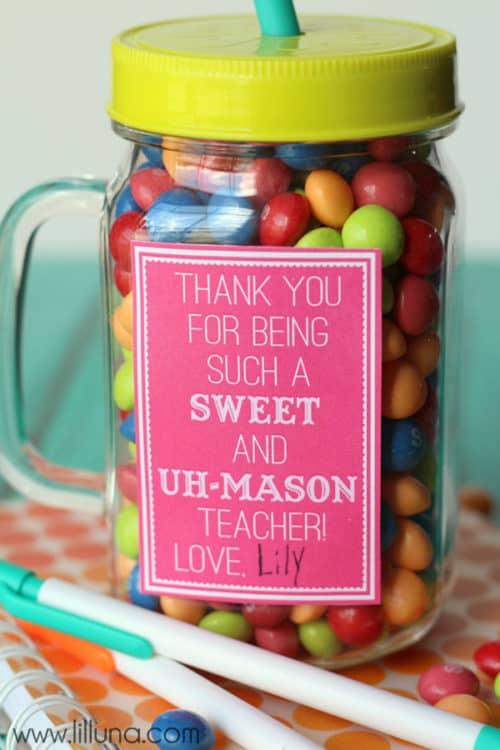 Mason Jar Gift Ideas for Teachers