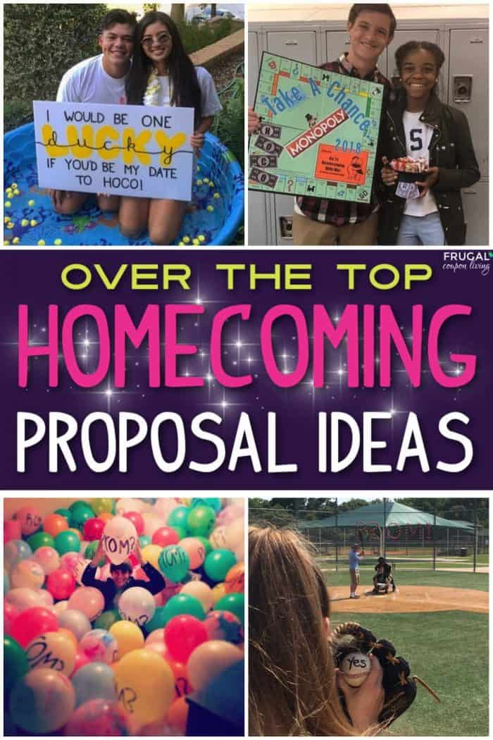 over the top homecoming proposal ideas