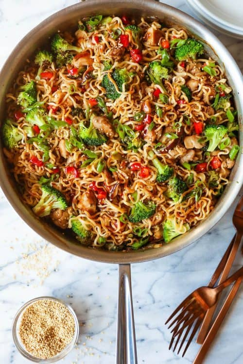 Asian Chicken Recipe with Ramen