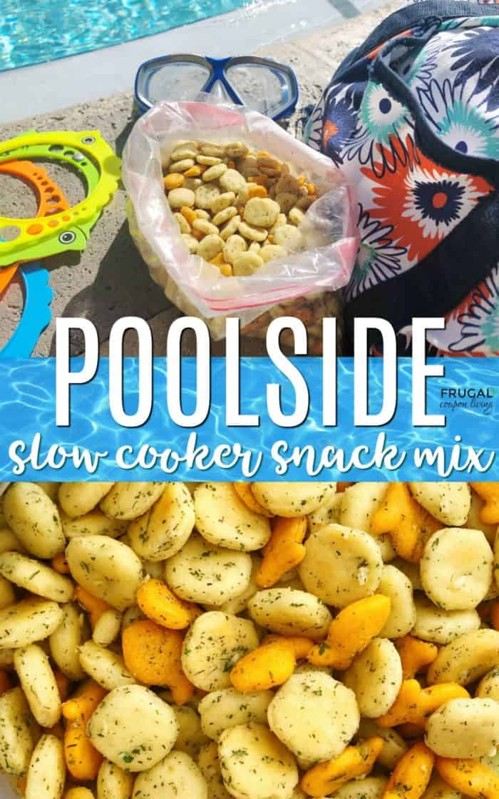 Poolside Seasoned Oyster Cracker Recipe - Beach Friendly Food Snack Mix