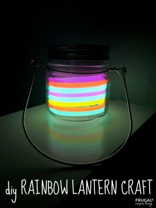 rainbow lantern craft