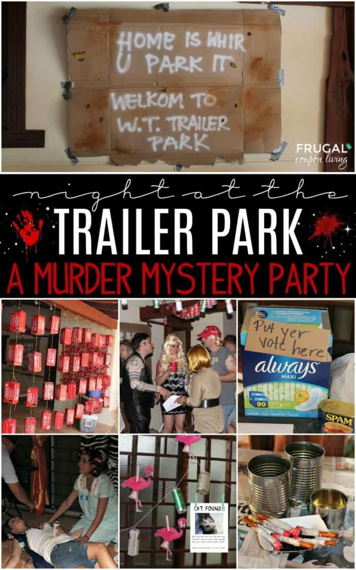 Trailer Park Murder Mystery Party Tragedy