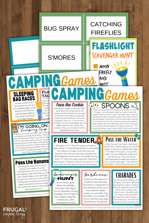 the best camping games