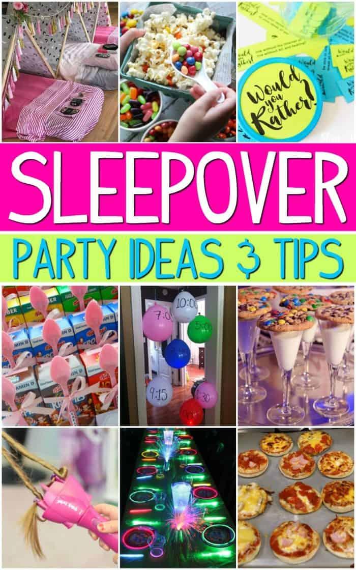 Sleepover Birthday Party