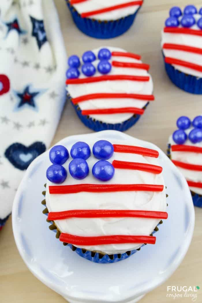 Fourth of July American flag Cupcakes