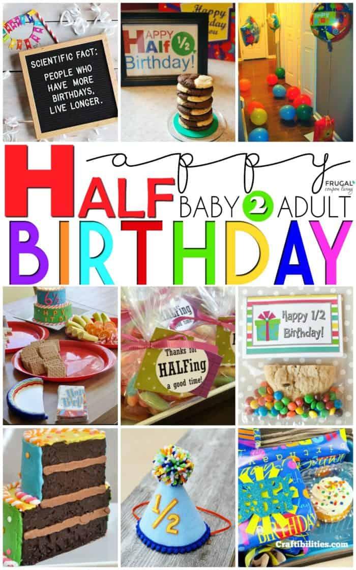 Half Birthday Party Ideas