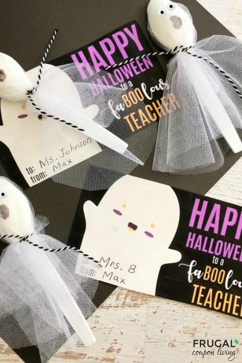 Teacher Halloween Gift Idea and Printable Gift Tag